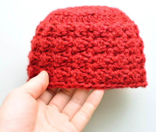 Blanket Stitch Baby Hat