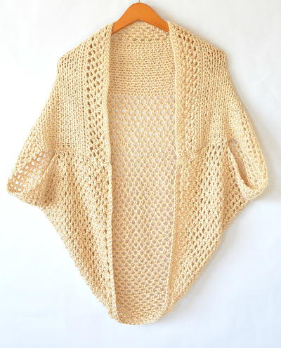 Light Mod Mesh Crochet Cardigan