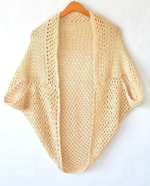 Light Mod Mesh Crochet Cardigan / Sweater