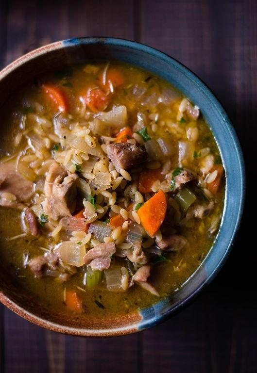 Lemon Chicken Orzo Soup Recipe Favehealthyrecipes Com