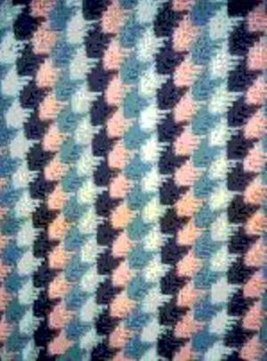 Vintage Narrow Steps Stitch Afghan