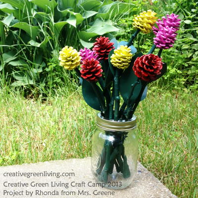 Pine Cone Rose Craft