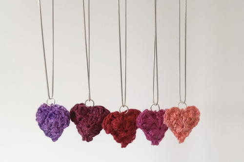 Be Mine Crochet Heart Pendant