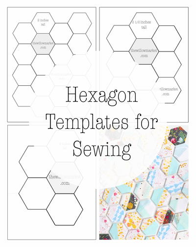 Hexagon Templates for a Hexie Quilt or Project