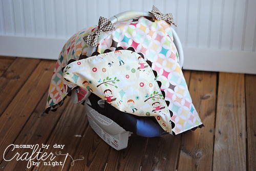 Tied with a Bow Car Seat Canopy
