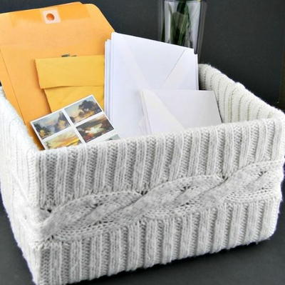 Easy Upcycled Sweater DIY Box