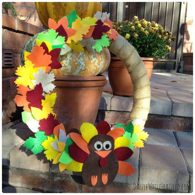 Thanksgiving Turkey Door Wreath