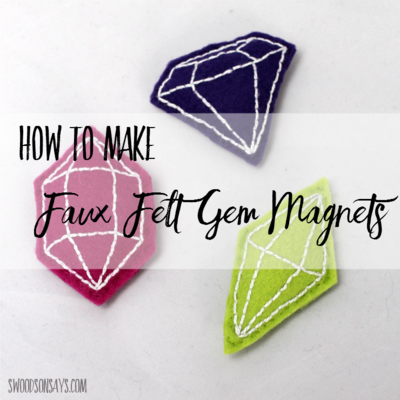 Faux Gemstone Magnets