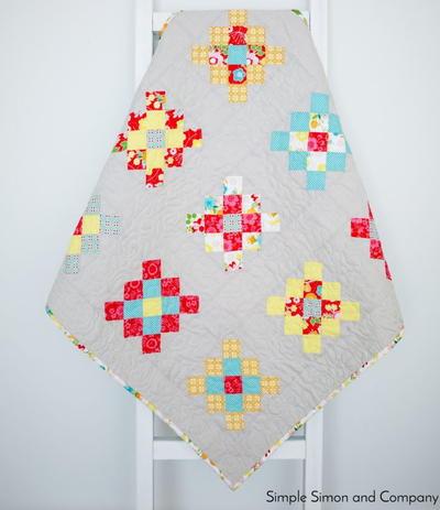 Granny-Squared Mini Quilt Tutorial