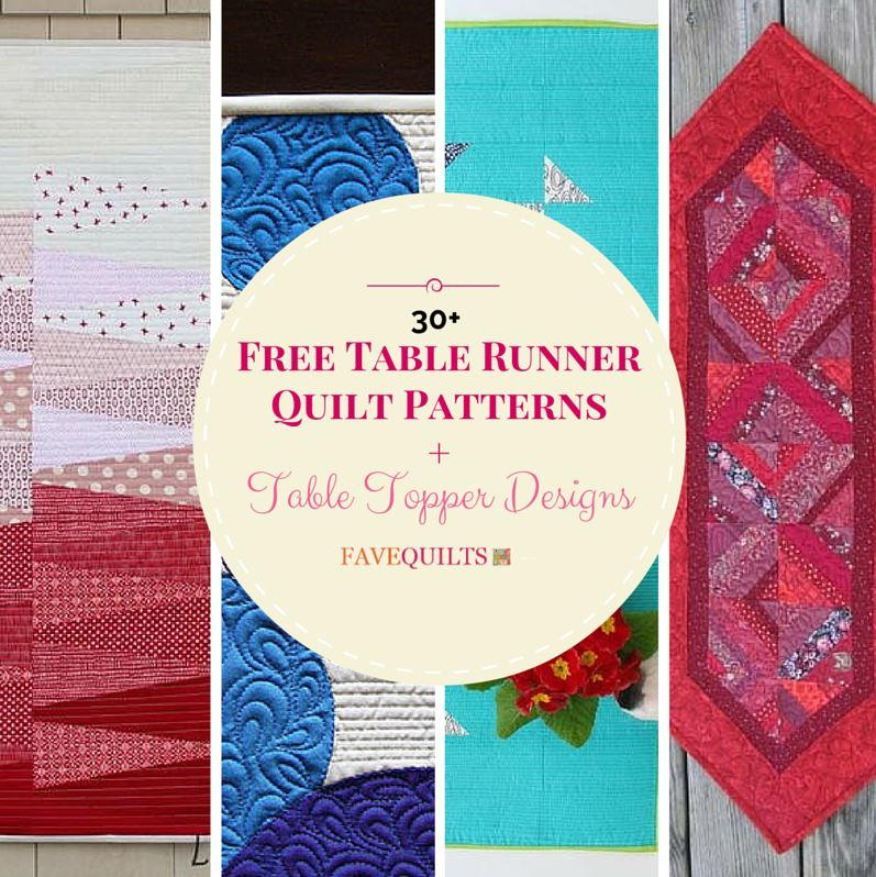 30 Free Table Runner Quilt Patterns And Topper