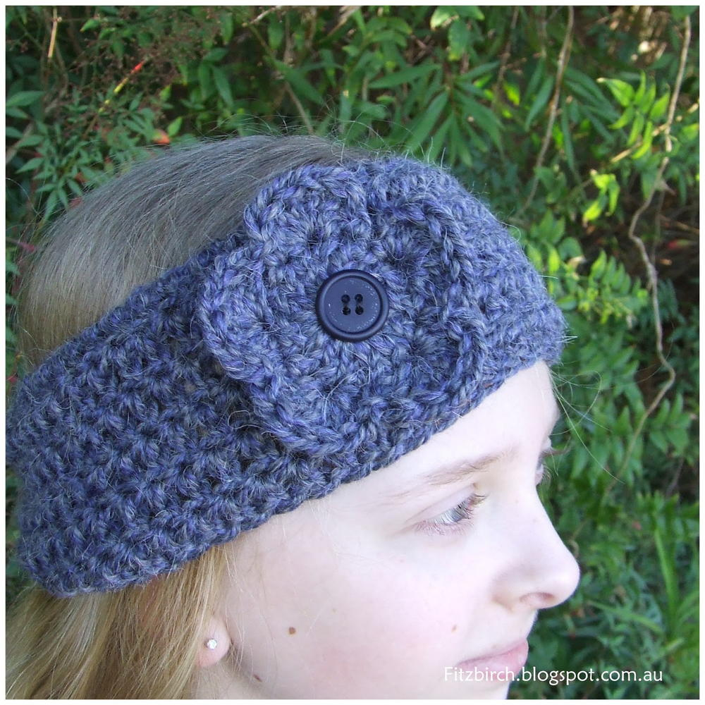 Crochet Ear Warmer Pattern Bulky Yarn : Super Easy Crochet Headband AllFreeCrochet.com