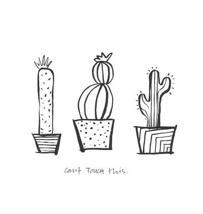 image about Free Printable Wall Art Black and White identify Smart Cacti Printable Wall Artwork