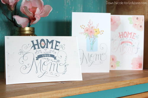 Printable Hand-Lettered Mothers Day Card