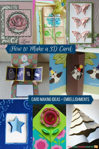 How To Make A 3d Card 23 Card Making Ideas Allfreepapercrafts Com
