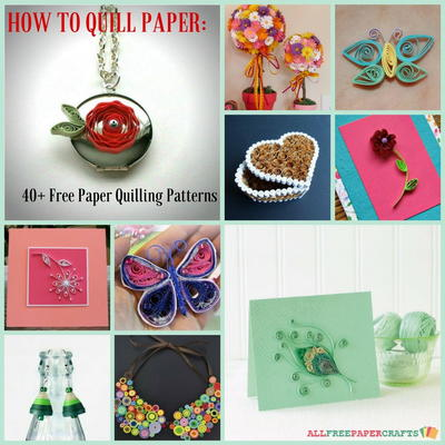 How to Quill Paper 40 Free Paper Quilling