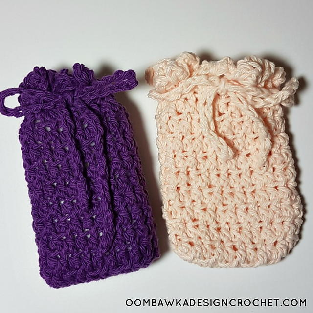 Free Crochet Patterns For Soap Bags : Special Soap Saver Bags AllFreeCrochet.com