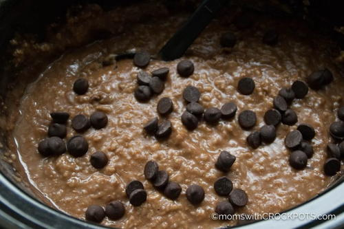 Slow Cooker Hot Cocoa Oatmeal