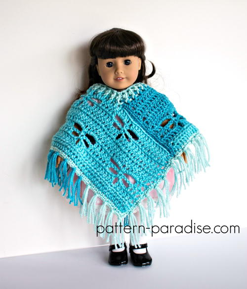"Dragonfy Poncho for 18"" Dolls"