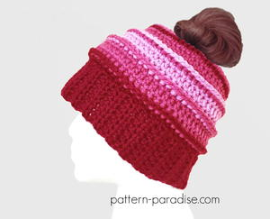 Be Mine Messy Bun Hat