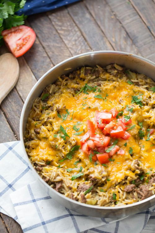 Skillet Cheeseburger Casserole Recipe