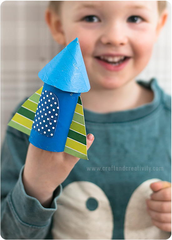 Cool Toilet Roll Rocket Craft