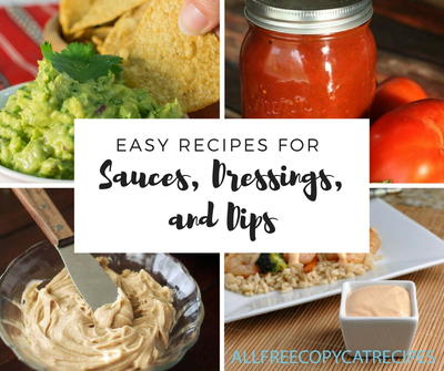 10 Easy Recipes for Sauces Dressings and Dips