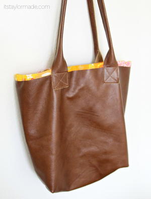 DIY Coach Leather Tote Pattern