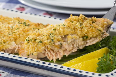 Golden Salmon Bake