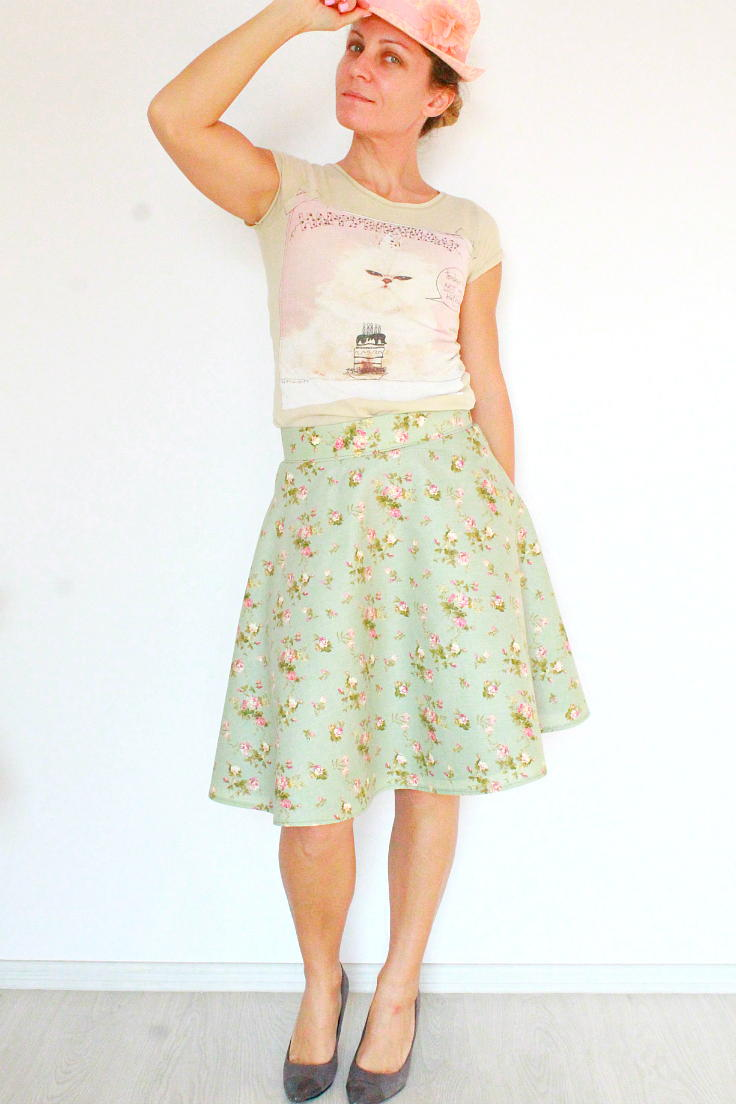 Lined Half Circle Skirt with Zipper Tutorial ...