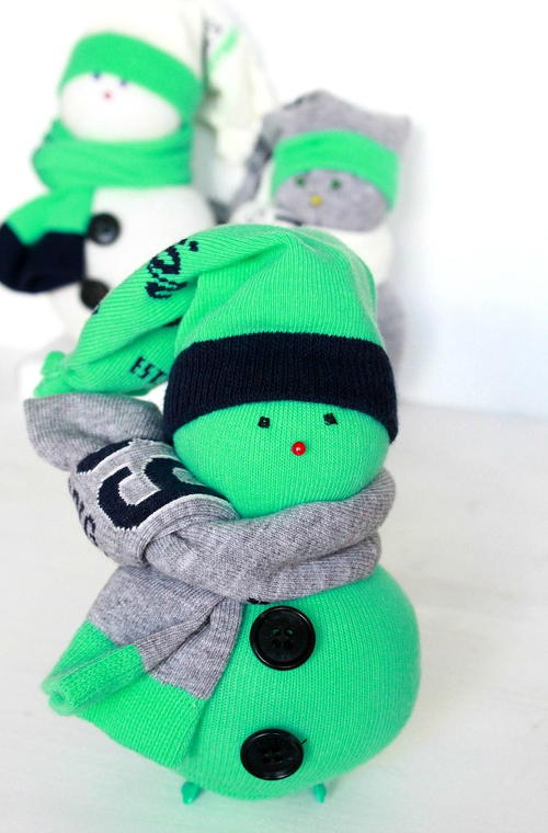 DIY Sock Snowman Project
