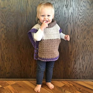 Amelia Crochet Poncho Sweater