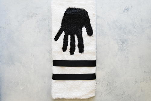 DIY Custom Hand Print Dish Towel