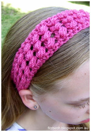 Crisscross Puff Crochet Headband
