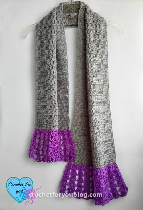 Simple Flared Crochet Scarf