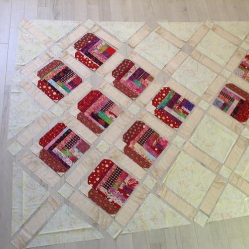 Improvised Heart Quilt Layout and Cutting Tutorial