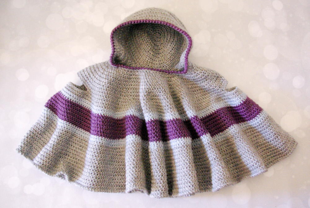 Crochet Baby Cape With Hood Free Pattern Legitefo For