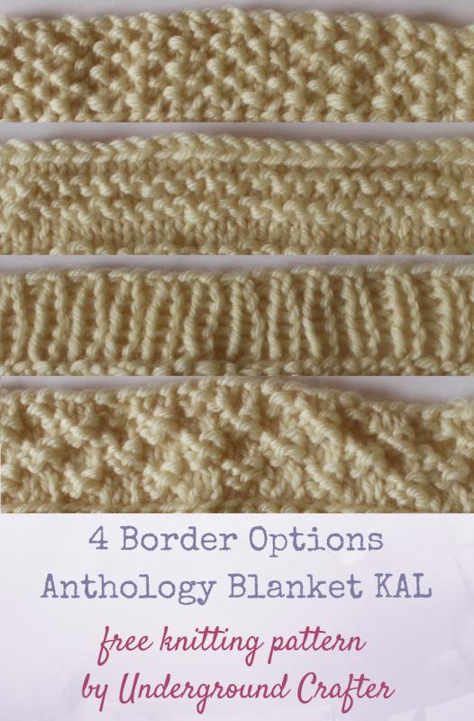 Knitting Edges For Blankets : Blanket border options allfreeknitting