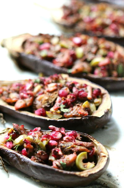Middle Eastern Twice-Baked Baby Eggplants