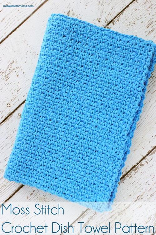 Easy Moss Stitch Dishcloth Allfreecrochet Com