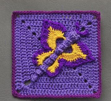 Butterfly Effect Crochet Granny Square