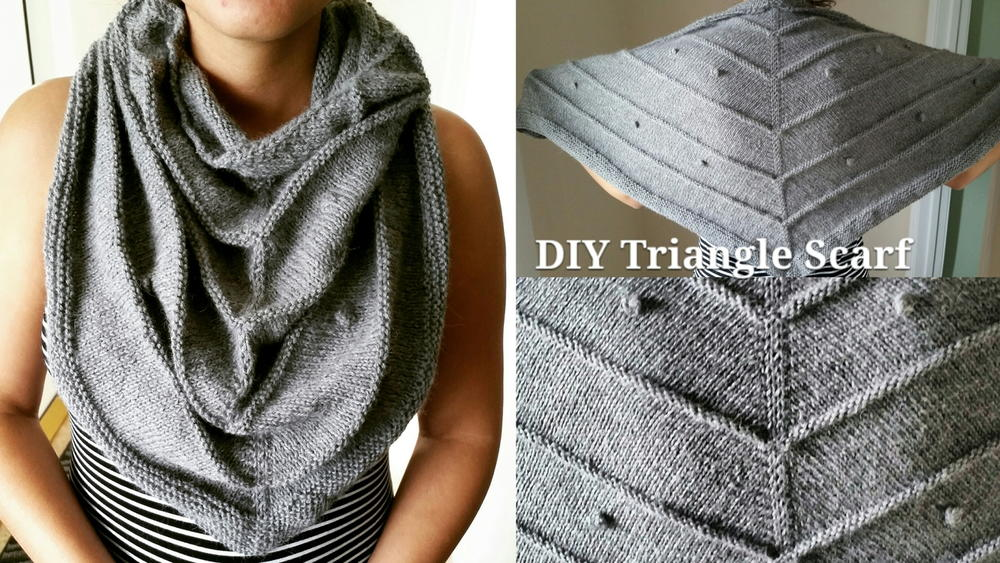 How To Knit A Triangle Scarf Allfreeknitting Com