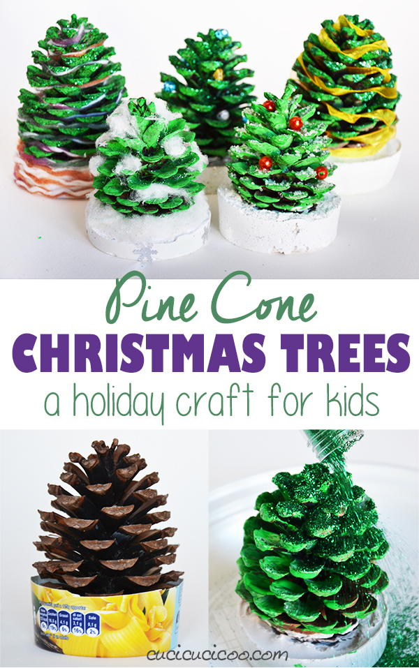 Pine cone christmas trees for kids for Pine cone christmas ornaments for kids