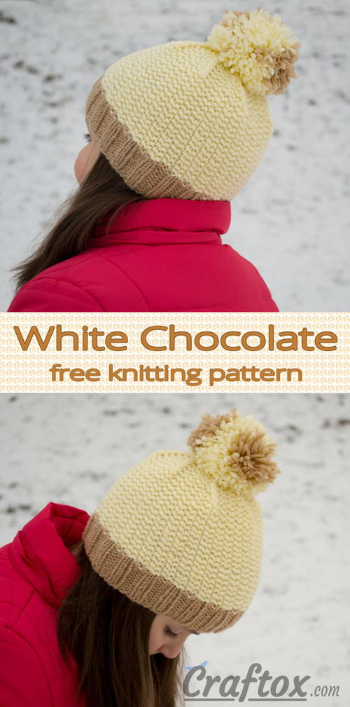White Chocolate Hat with Pompom