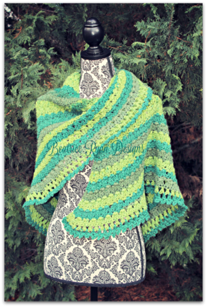 Amazing Grace Lucky Green Shawl