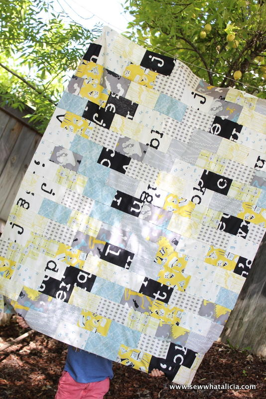 Subway Tile Inspired Quilt Top