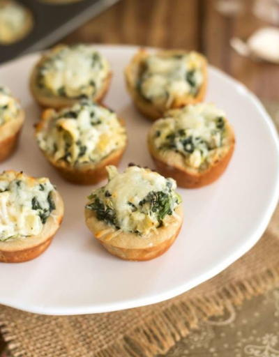 Spinach and Artichoke Dip Bites