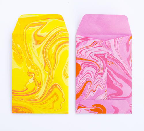 Swirly Twirly Marbled Envelopes