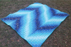 Blue Bargello Quilt Pattern