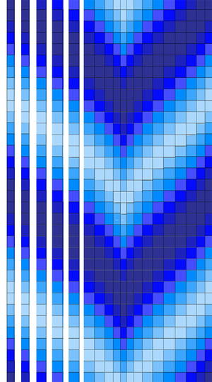 Blue Bargello Quilt Pattern | FaveQuilts com
