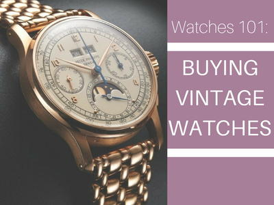 14 Tips for Buying Vintage Watches